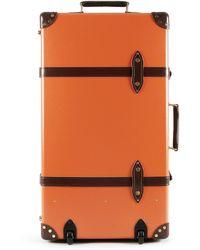"Globe-trotter Centenary 30"" Extra Deep Suitcase With Wheel - Orange - Lyst"