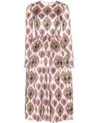 Dolce & Gabbana Printed Silk Dress - Lyst