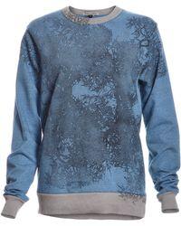 Simeon Farrar - Powder Blue Soft Sweat With Branches - Lyst