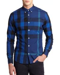 Burberry Brit Fred Check Cotton Shirt - Lyst