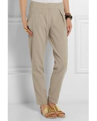 Donna Karan New York Washed Stretch Linenblend Pants - Lyst