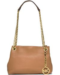 MICHAEL Michael Kors Jet Set Chain Crossbody Bag brown - Lyst