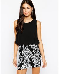 Tfnc Michelle Dress with Barqoue Print Skirt - Lyst