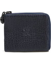 Parabellum | blue Navy Leather Courier Zip Wallet | Lyst