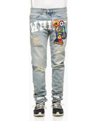 Off White C/o Virgil Abloh Embroidered Denim Pants - Lyst