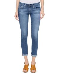 AG Adriano Goldschmied Stilt Cigarette Roll Up Jeans - 13 Years Solitude - Lyst