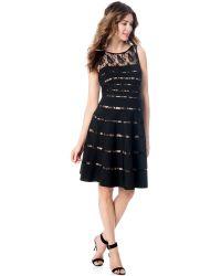 JS Boutique | Maternity Lace-illusion A-line Dress | Lyst