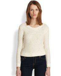 Cardigan | Lucie Diamondknit Cotton Sweater | Lyst