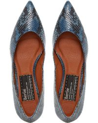 Bertie - Almo Pointed Leather Court Shoes - Lyst
