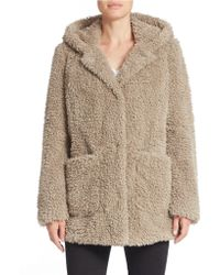 Kenneth Cole - Hooded Faux-fur Coat - Lyst
