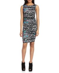 Catherine Malandrino Printedruched Jersey Dress - Lyst