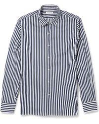 Tomorrowland Striped Cotton Shirt - Lyst