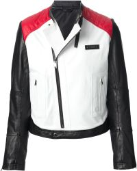 Les Hommes Multicolor Panelled Jacket - Lyst