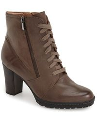 Biala - Keiran Lace-Up Leather Ankle Boots - Lyst