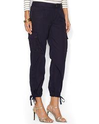 Ralph Lauren Lauren Cotton Cargo Pants - Lyst