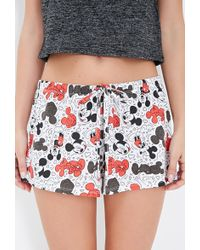 Forever 21 Mickey Mouse Pj Shorts - Lyst