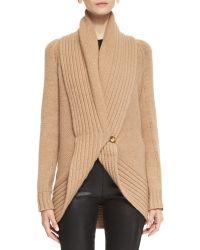 Ralph Lauren Black Label Merion Chunky-knit Wool-cashmere Cardigan - Lyst
