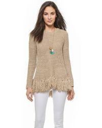 By Malene Birger Donnalie Fringe Bottom Sweater - Soft Latte - Lyst
