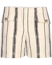 Tory Burch Edna Striped Shorts - Lyst