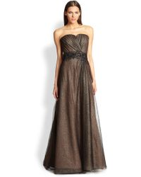 Ramy Brook Strapless Jeweled Point Desprit Gown - Lyst