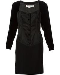 Yves Saint Laurent Vintage Corseted Cocktail Dress - Lyst
