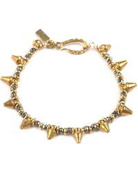 Vanessa Mooney Crash Dagger And Stone Bracelet gold - Lyst