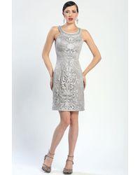 Sue Wong Soutache Halter Cocktail Dress - Lyst