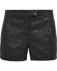 J.Crew Collection Leather Shorts - Lyst