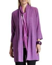 Eileen Fisher Alpaca Long Cardigan - Lyst