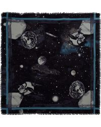 Marc By Marc Jacobs - Blue Jupiter Wool Scarf - Lyst