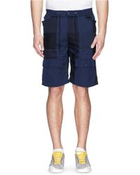 White Mountaineering Patchwork Cotton-Tencel Cargo Shorts - Lyst