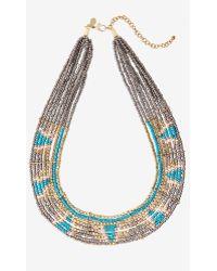 Express Aztec Seedbead Collar Necklace - Lyst