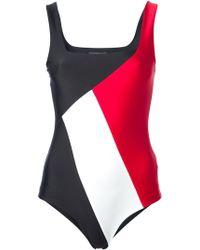 Fausto Puglisi - Colour Block Swimsuit - Lyst