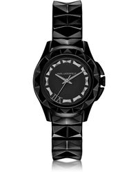 Karl Lagerfeld 30 Mm Black Ion-plated Stainless Steel Womens Watch - Lyst