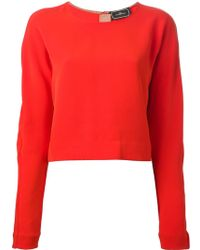 By Malene Birger Cropped Blouse - Lyst
