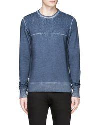 Denham   'sashiko' Stitch Embroidery Sweatshirt   Lyst