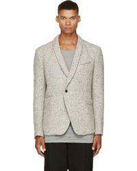 Haider Ackermann Beige Tweed Blazer - Lyst