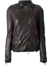 Giorgio Brato Distressed Biker Jacket - Lyst