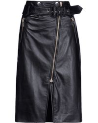 Jason Wu Leather Skirt - Lyst