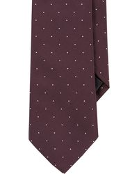 Ralph Lauren Black Label Dotted Peau De Soie Neck Tie - Lyst