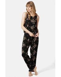 Topshop Women'S Floral Pajama Set - Lyst
