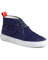 Del Toro Quilted Suede Chukka Sneakers - Lyst