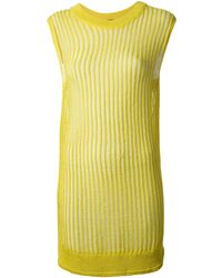 Kai-aakmann Ribbed Dress - Lyst