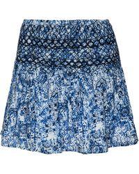 Scoop Lagoon-Print Mini Skirt blue - Lyst