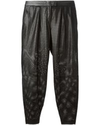 Muubaa - Perforated Tapered Trousers - Lyst