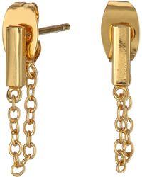 Gorjana Mave Chain Loop Earrings - Lyst