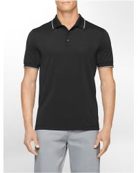 Calvin Klein White Label Performance Slim Fit Color Tipped Pique Polo Shirt - Lyst