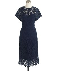 J.Crew Collection Scalloped Lace Dress - Lyst