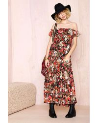 Nasty Gal You Flor Me Dress - Lyst