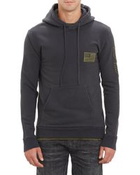 Balmain Us Flag Air Force Appliqué Side Zip Hoody - Lyst